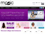 Magic Hair Extensions - Homepage